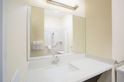 Candlewood Suites Longmont offers modern, clean, and comfortable bathrooms for their guests