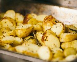 Baby potatoes and mustard