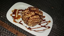 Bavette , Boudins noirs aux pommes, et desserts .