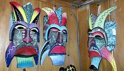 Indigenous Costa Rican Masks made by the Boruca Tribe