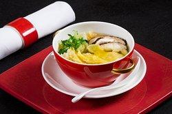 Traditional Hong Kong Shrimp Wonton Soup