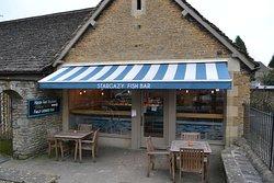 Stargazy Fishbar- On London Road, Tetbury. Next door to The Priory Inn.
