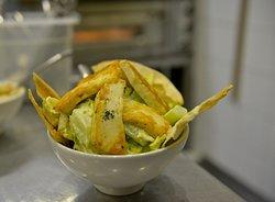 Yo'Mo's Salad with Halloumi Cheese and Mustard Sauce