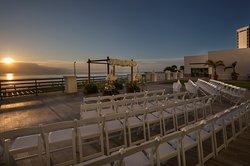 Beach weddings on the oceanfront deck