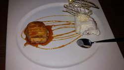 apple tart & coconut ice cream
