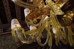 Murano glass chandelier by artist Aristide Najean