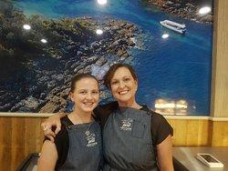 Paula and Teneisha our wonderful Waitresses