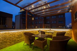 roof top seating  area