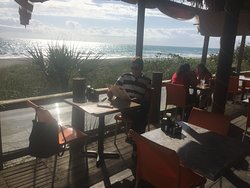 Terrasse - toller Ausblick, direkt am Strand.