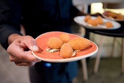 CROQUETTE – CARAMELISED PUMPKIN – CHEVRE – PEPITAS