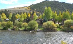 Cabins in fall on Taylor River