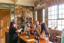 Wine tasting at Trofeo's cellar door