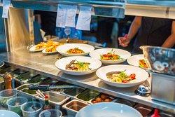 Trofeo Estates kitchen busy at work