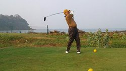 Golfing at Only international standard 9 Hole Link Golf Course in Goa . it's unique Golfing expe