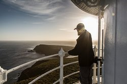 Tour Guide gazing over the Tasman Sea at Cape Bruny