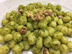 Pesto Gnocchi w/ walnut