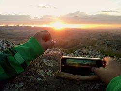 appena fuori dal campeggio potrete ammirare tramonti mozzafiato