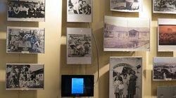 Foto in mostra all'interno del museo relative al periodo 1945 - 1955.