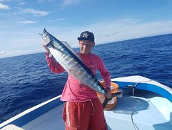 His First Wahoo