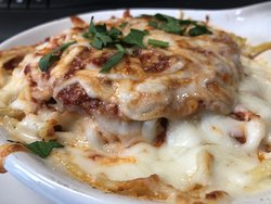 Baked Chicken Parmigiana.