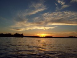 """Sunset from just """"off"""" Browning Island"""
