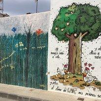 Muurschilderingen - Murales in de wijk San Isidro