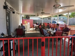 Outdoor dining, pet and cigarette friendly