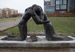 Statue outside Chapel of Reconciliation