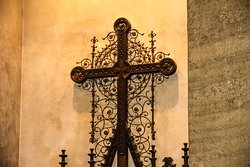 Cross over the altar in Chapel of Reconciliation