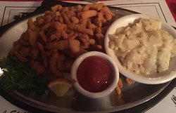 clamstrips and scalloped potatoes