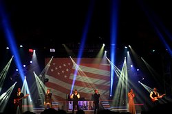 A patriotic end to the show