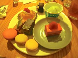 The lighting doesn't do the desserts justice. They tasted as good as they look.