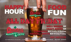 Friday means it's happy hour. All freakin' day.