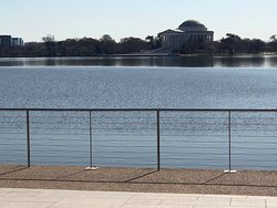 Looking across the Tidal Basin to Jefferson Memorial