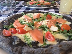 Squid Pizza With Salmon