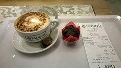 Coffee and mini chocolate muffin