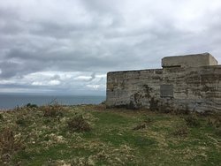 one of the costal fortifications, a lookout post. Thick walls and comfort from the wind!