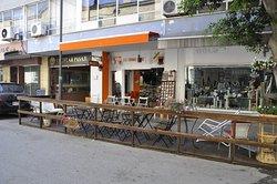 Red Orange Kiosk