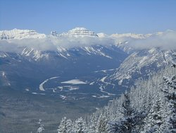 Looking west from the top. The Trans Canada highway below