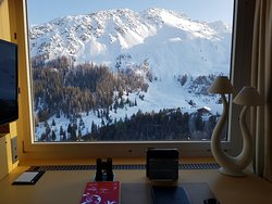 View from the working desk of the Suite with binocular