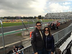 Enjoying a day at the races with my love
