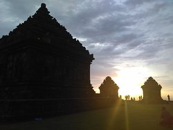 ijo temple sunset
