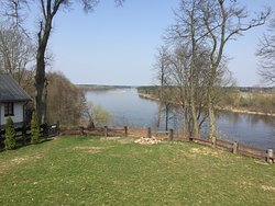 View of the Bug River from the dining hall porch