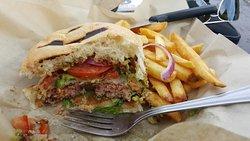 Great burger - Barrio Brewing Co. 5803 S Sossaman Rd, #45, Mesa, AZ 85212