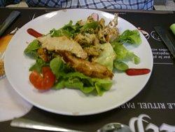 poulet et salade
