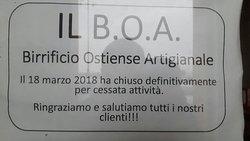Peccato il B.O.A. chiuso