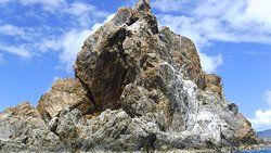 One of the cool rock formations of the Indians that we visited with Capt Jug