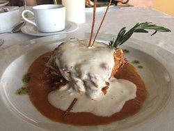 Lasagne at Italian restaurant