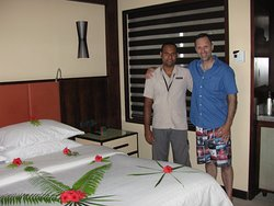 My husband with Arif (room attendant)