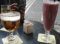 Milk-shake framboise et bière